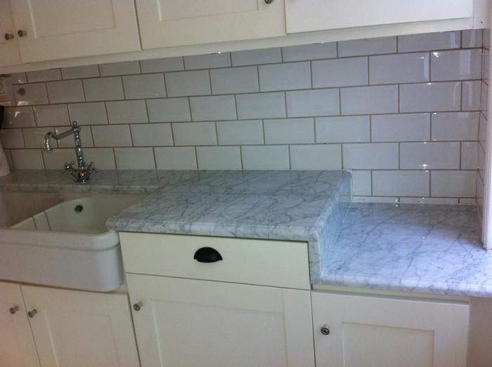 Klassisk stil med Carrara marmor With a twist!